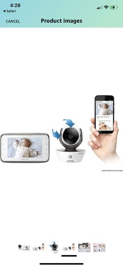 Motorola MBP854CONNECT Dual Mode Baby Monitor with 4.3-Inch LCD Parent Monitor and Wi-Fi Internet Viewing Thumbnail