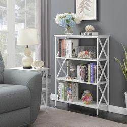 Tucson 4 Tier Bookcase, White Thumbnail