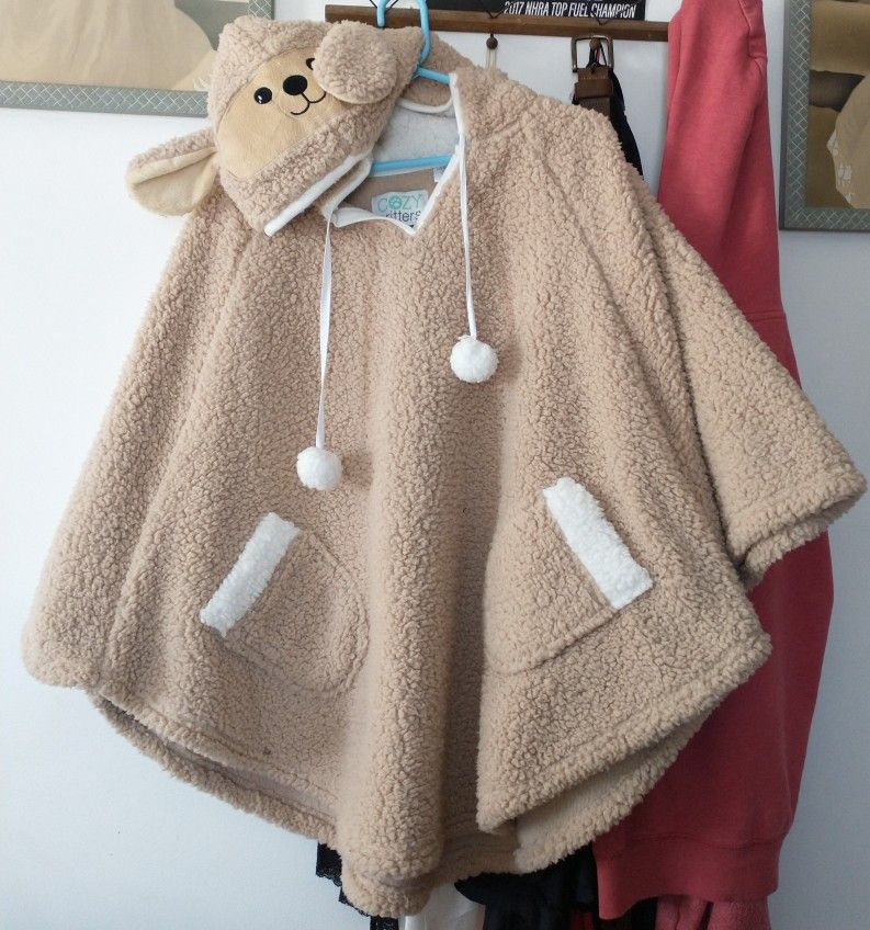 Cozy Critters Soft Lamb Hooded Poncho