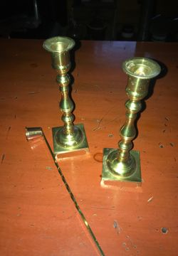 Brass candle holders Thumbnail