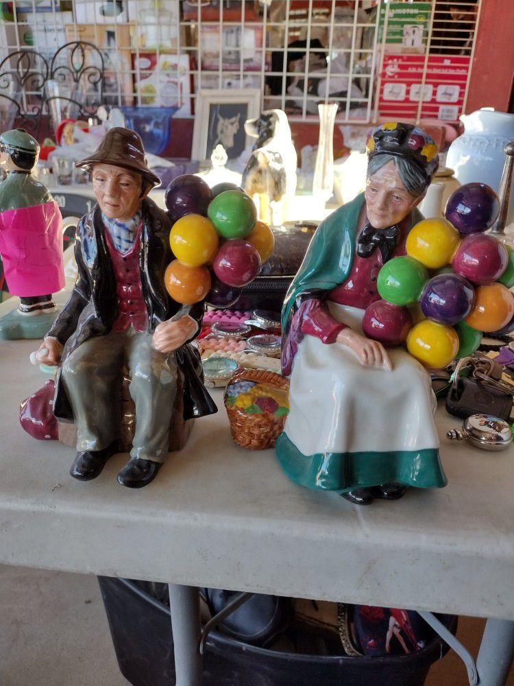 Royal Daulton Ballon Sellers Couple