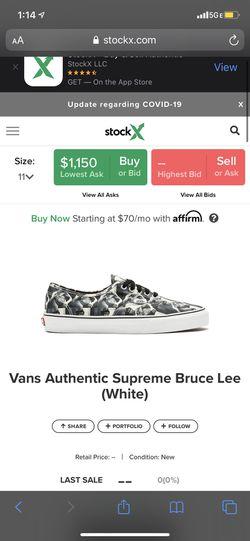 Supreme Bruce Lee Vans RARE Thumbnail