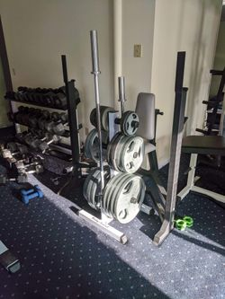 Weight Gym Workout Exercise Fitness 300lb Set Thumbnail