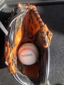 Baseball glove with ball Thumbnail