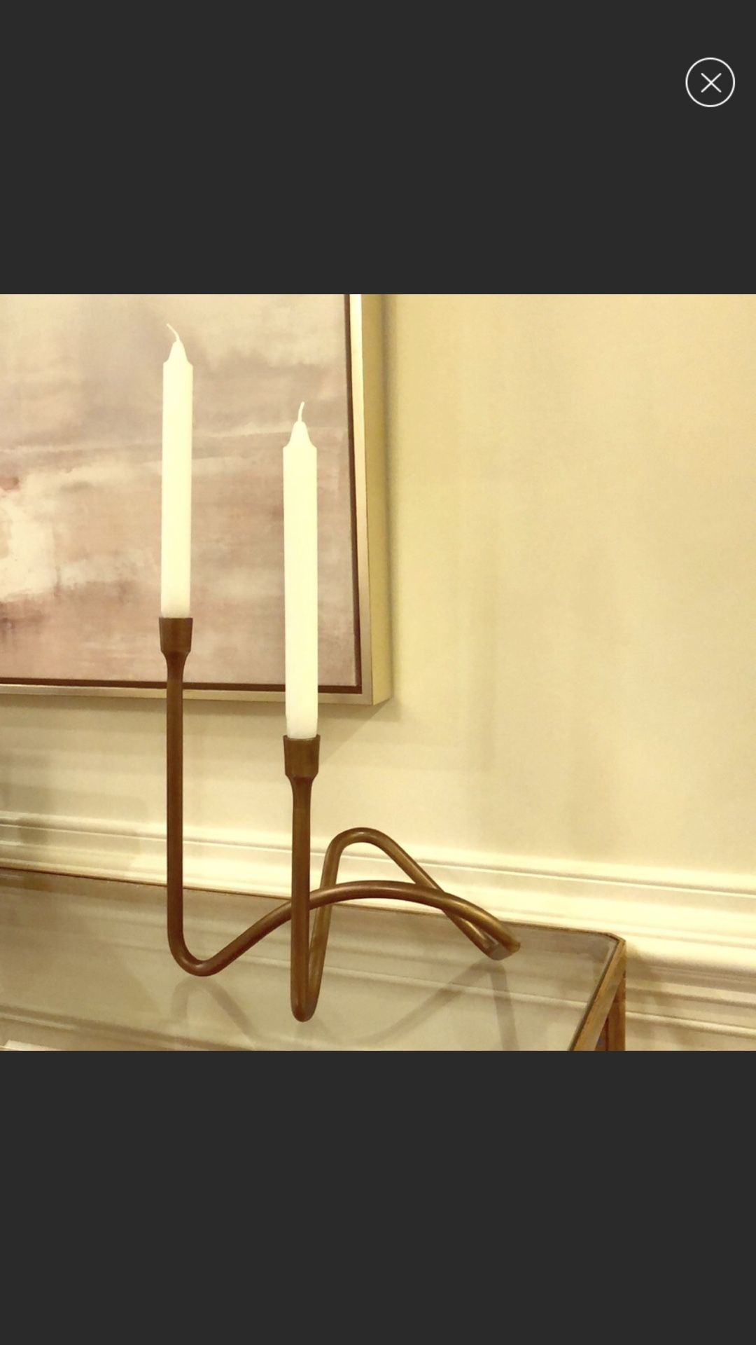 Williams Somoma brass candleholder