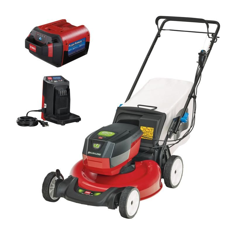 Toro Flex Force 21356 21 in. 60 volt Battery Self-Propelled Lawn Mower Kit (Battery & Charger) - Case Of: 1;