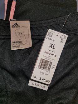 Woman's Adidas Pink Striped Pants Thumbnail
