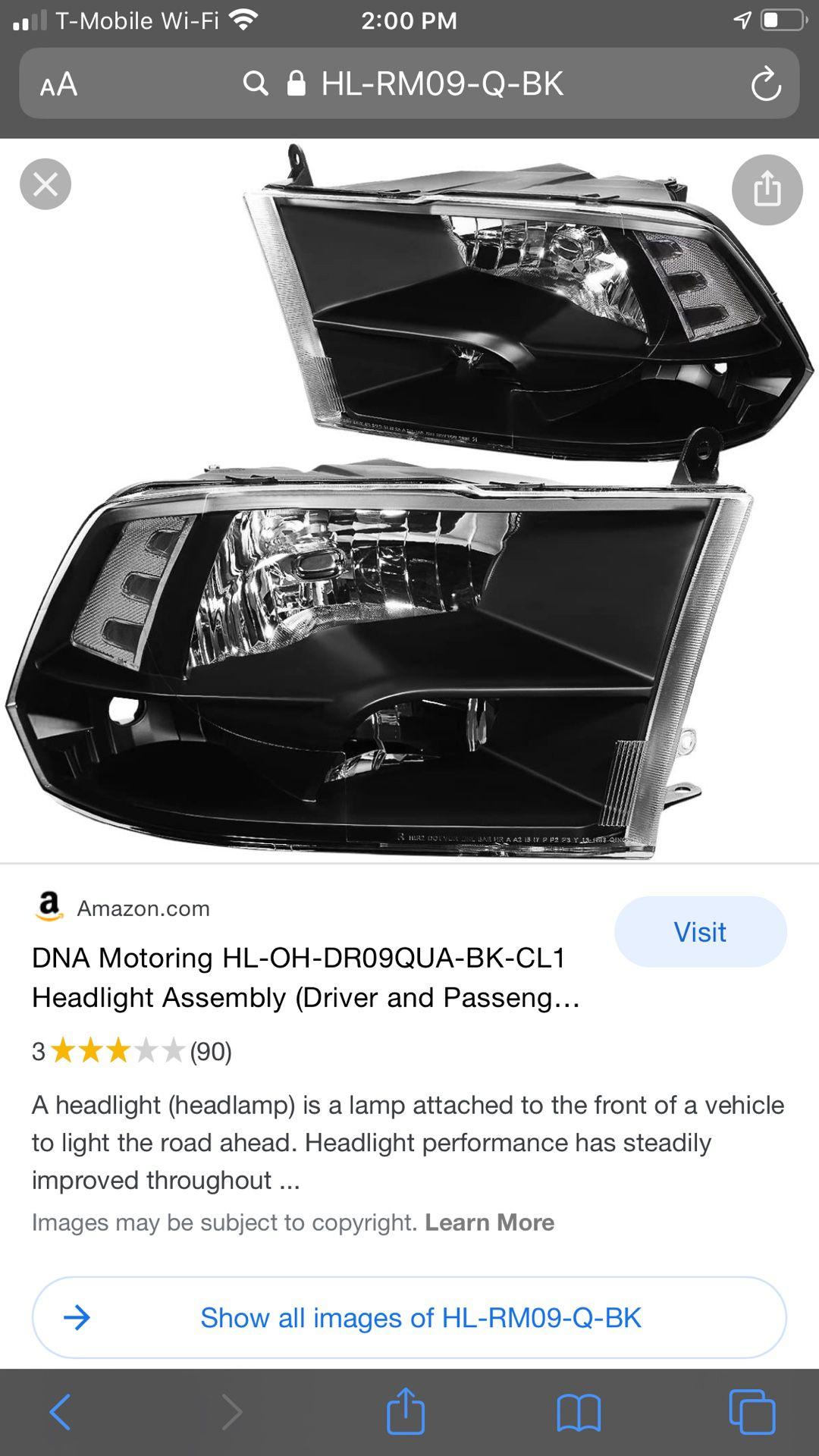 09-18 Ram headlights