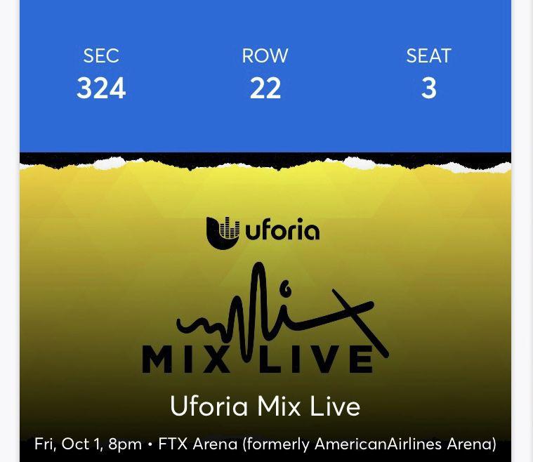 Tickets Uforia Mix Live