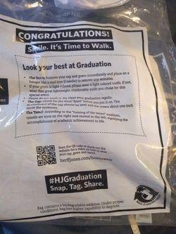 Unisex Burgundy Graduation Gown. Thumbnail