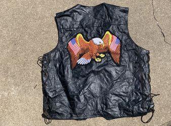 Harley Davidson Leather Vest Men's XL Thumbnail