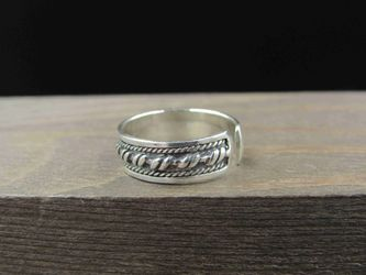 Size 2.5 Sterling Silver Braid Design Toe Band Ring Vintage Statement Engagement Wedding Promise Anniversary Bridal Cocktail Friendship Thumbnail