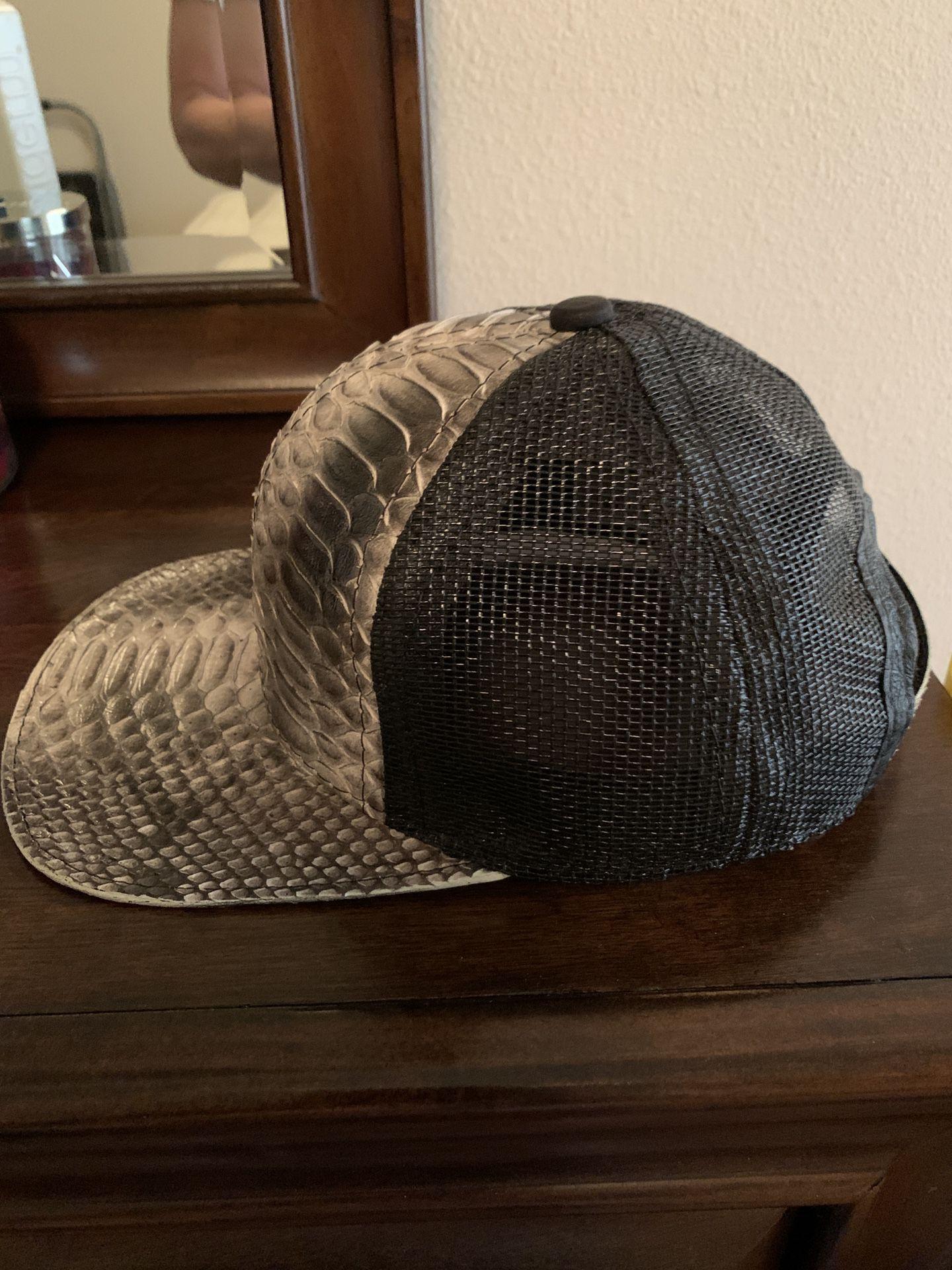 Genuine Python and Fishnet Cap