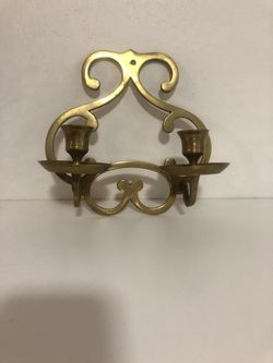 vintage solid brass sconce Thumbnail