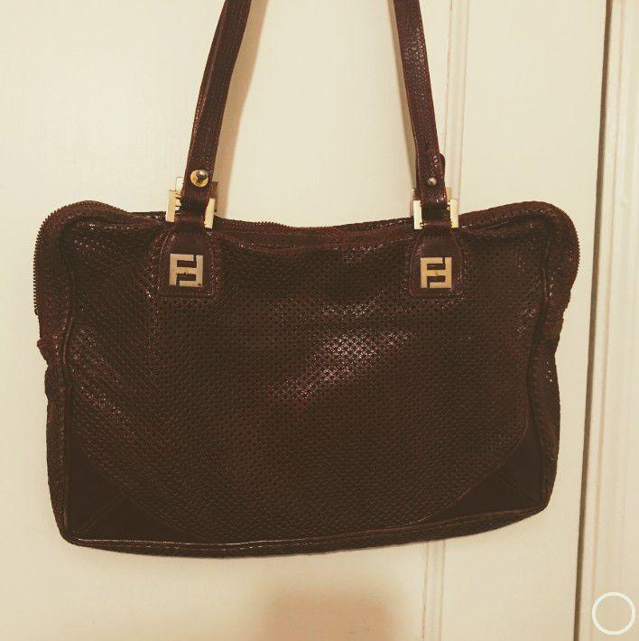 FENDI Italy Fine Leather Purse Bag