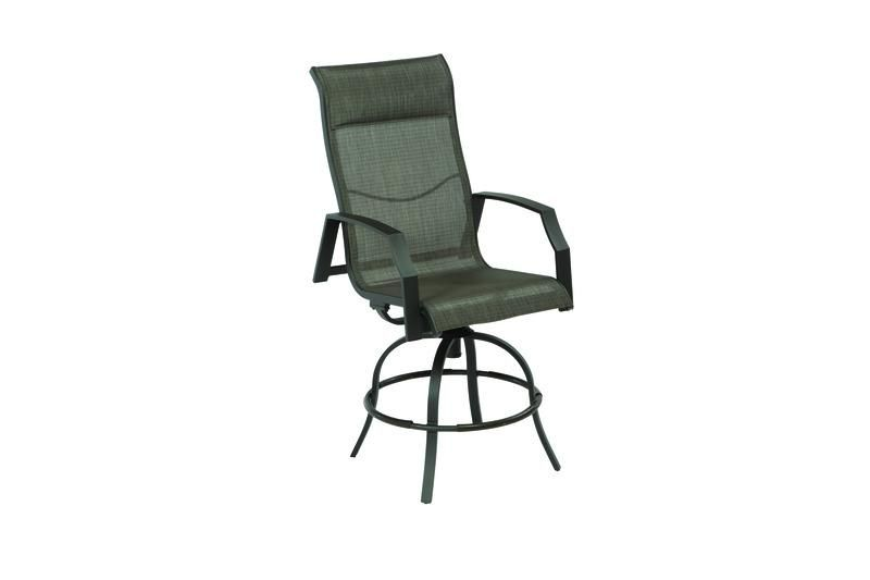 Living Accents Icarus Aluminum Frame Swivel Balcony Rocking Chair - Case Of: 2;