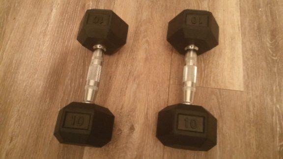 10lb HEX DUMBBELLS DUMB BELL (WEIGHTS)