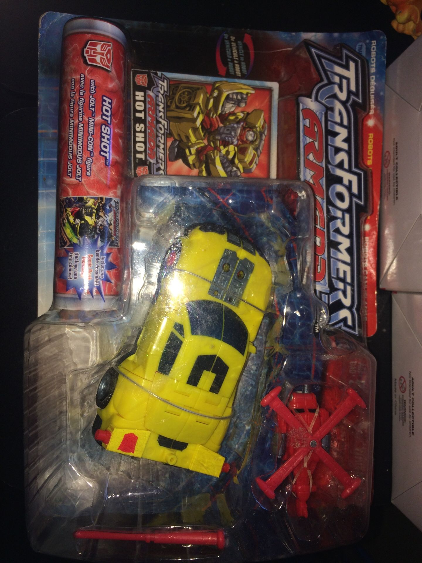 Transformers armada hot shot vehicle to robot robots in disguise