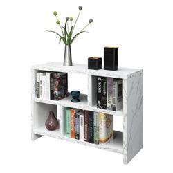Northfield Console 3 Tier Bookcase, White Thumbnail