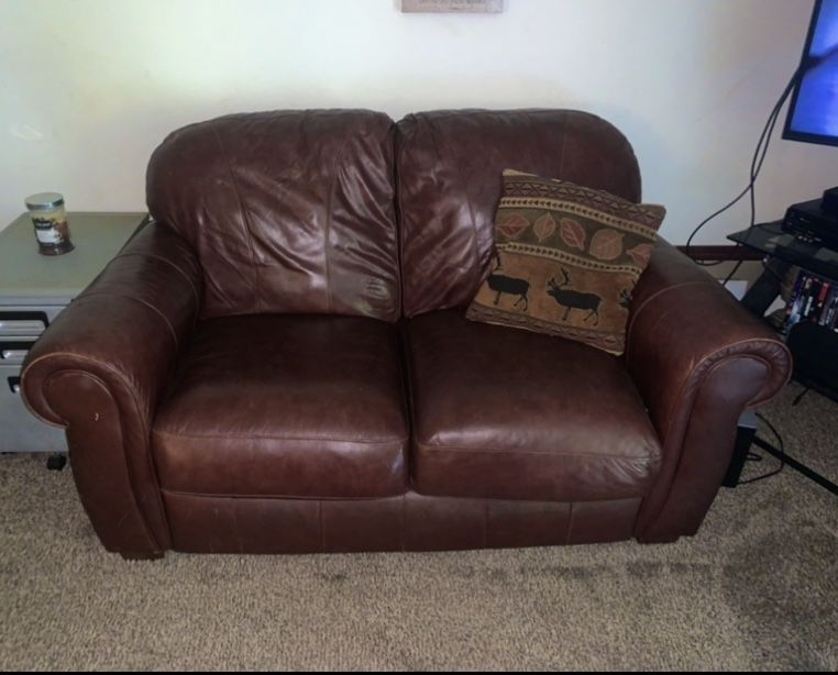 Leather Love Seat / Couch