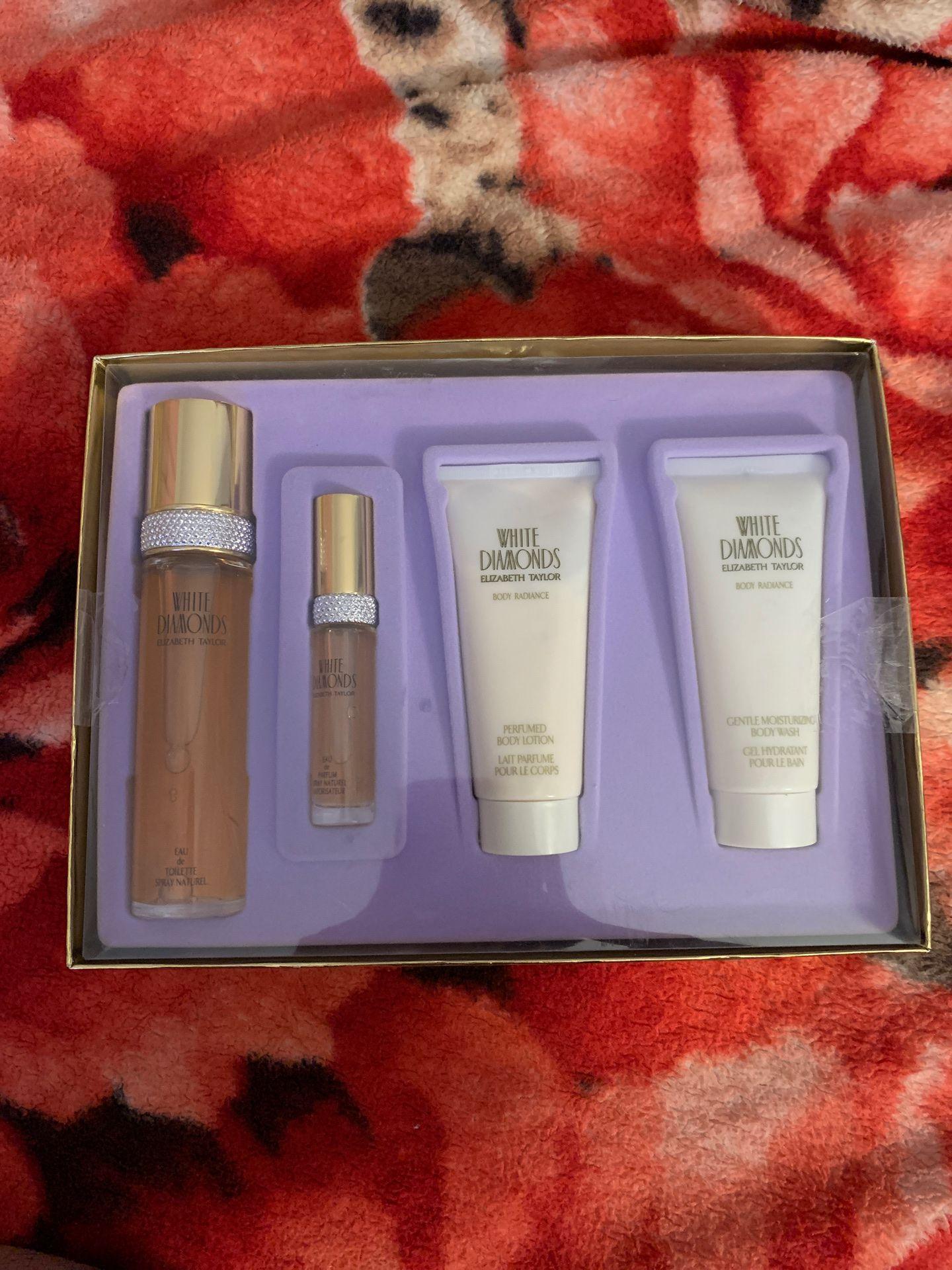 Perfume and body lotion set white diamonds