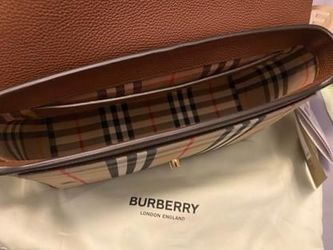 Burberry Leather and Vintage Note Crossbody Thumbnail