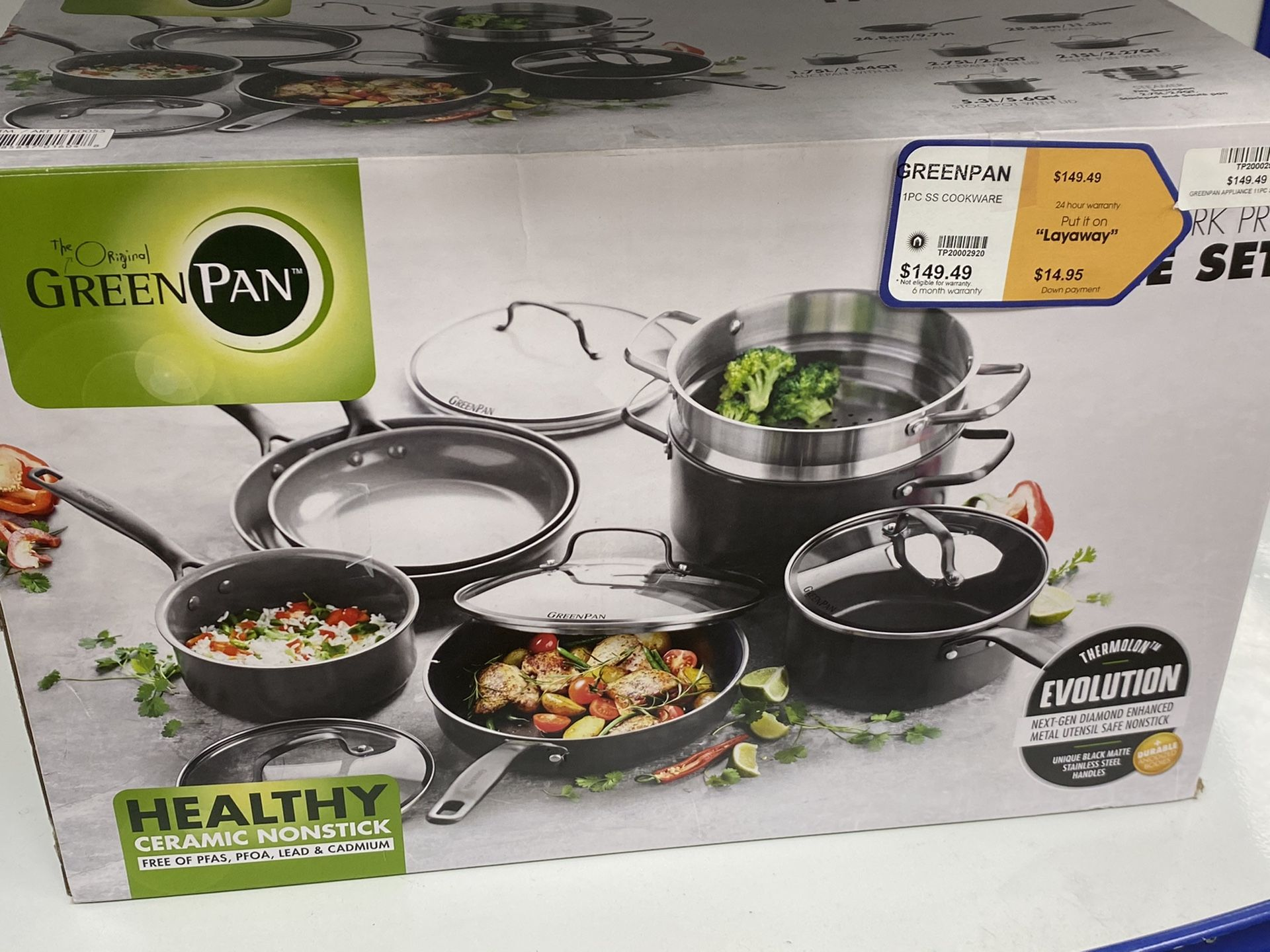 The original Green pan New York pro 11piece set