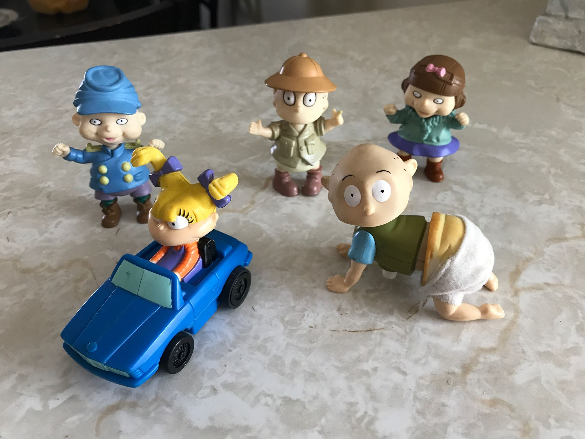 5 Antique Nickelodeon rugrats toys