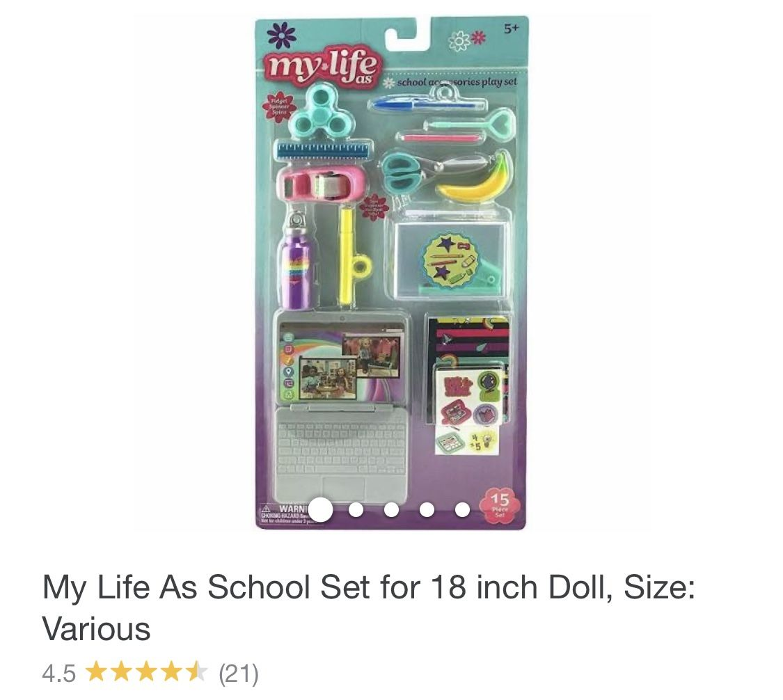 My Life School Set For 18 Inch Doll Size