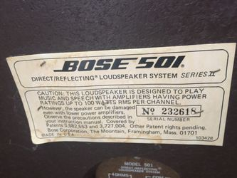 Vintage Bose 501's (series II) Thumbnail