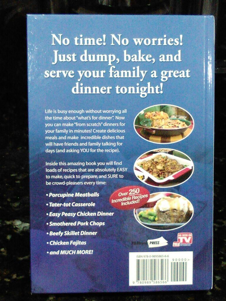 Quick & Easy Dump Dinners by Cathy Mitchell Sells for $10 Brand New online. Never been used for Only $5