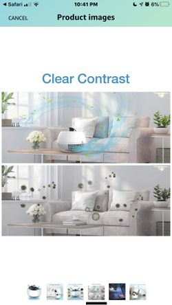 TRUSTECH Air Purifier xHome,True HEPA Filter Air Cleaner for Room with 3 Fan Speeds, 3 Stage Filter. Thumbnail