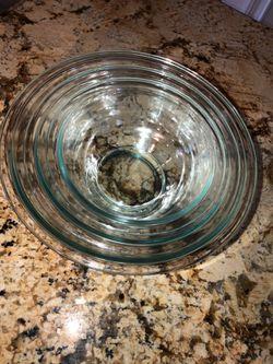 Pyrex 3 Piece Mixing Bowl Set (2 Sets, 6 Bowls Total) Thumbnail