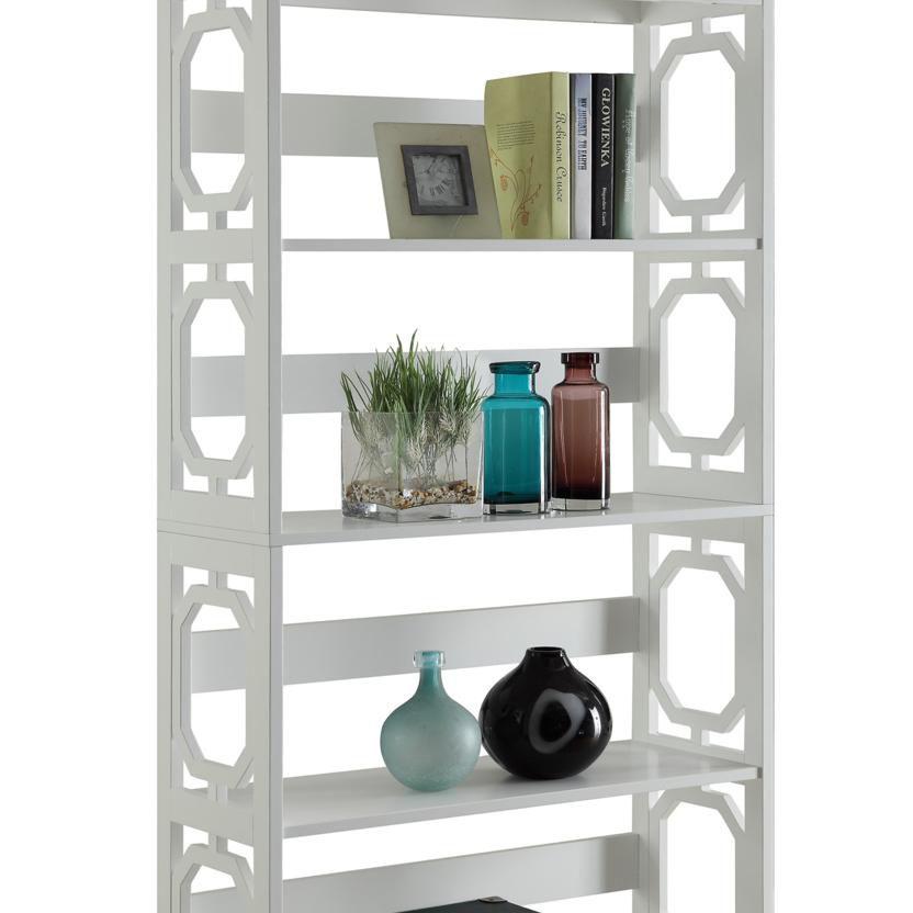 Omega White 5 Tier Bookcase