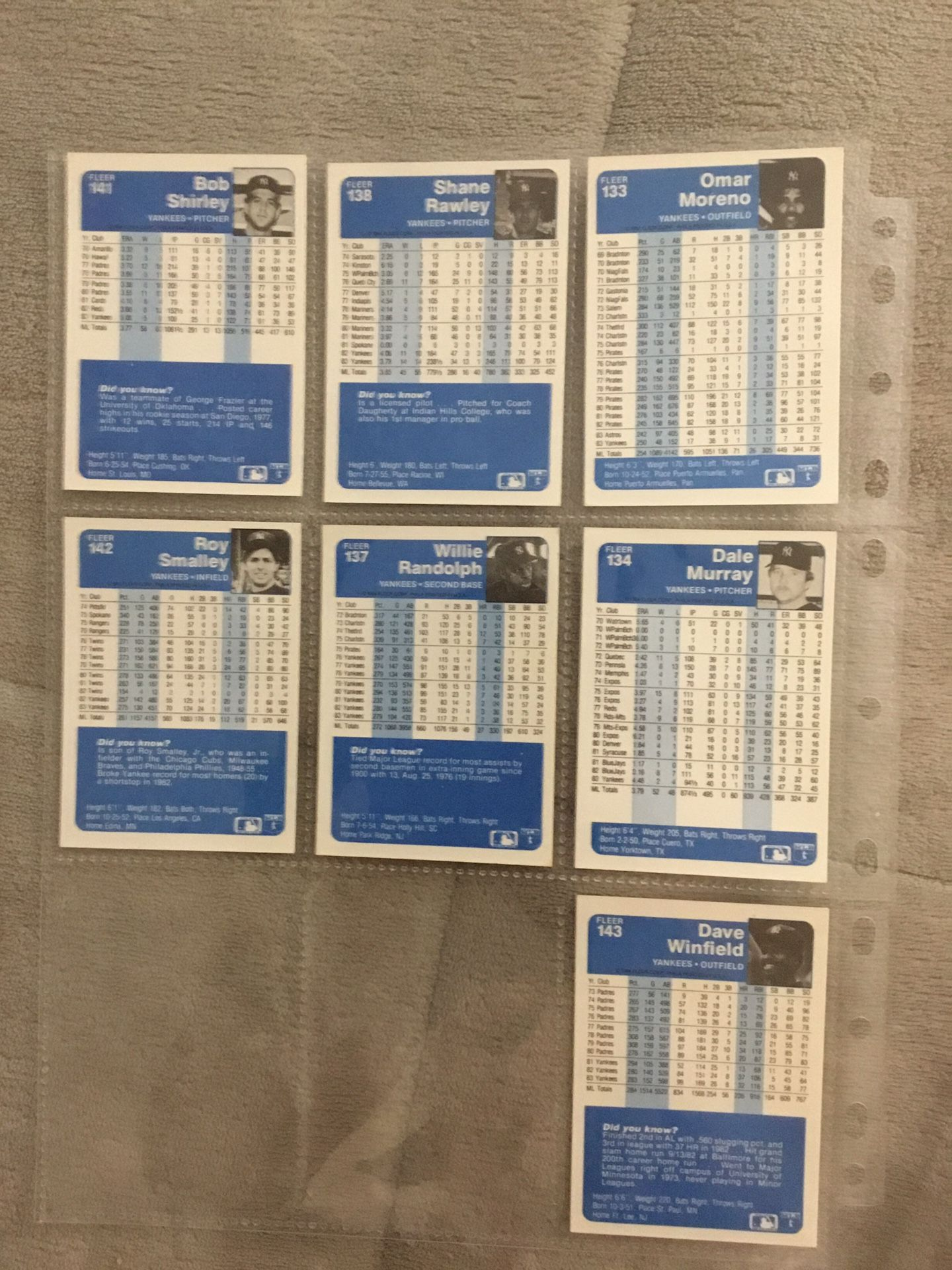 1984/1985 Fleer baseball cards. 562 total cards.