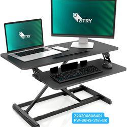Standing Desk Converter,Height Adjustable Stand Up Desk Riser Ergonomic Desktop Space Allows for Dual Monitors, for Home Office Desk Workstation Thumbnail
