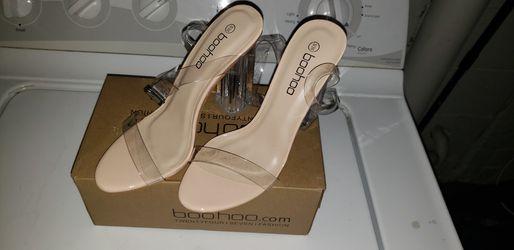 Clear two part block heels Thumbnail