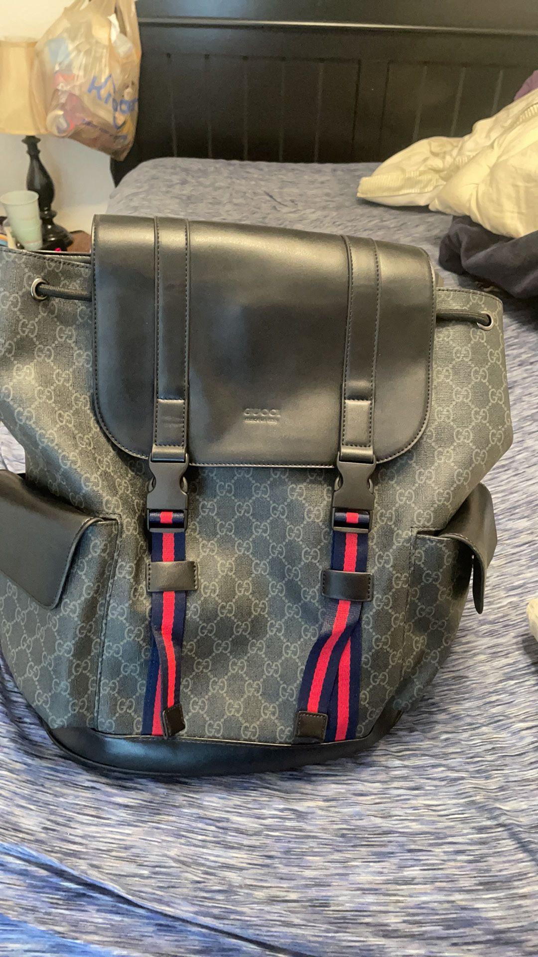 Black Gucci backpack