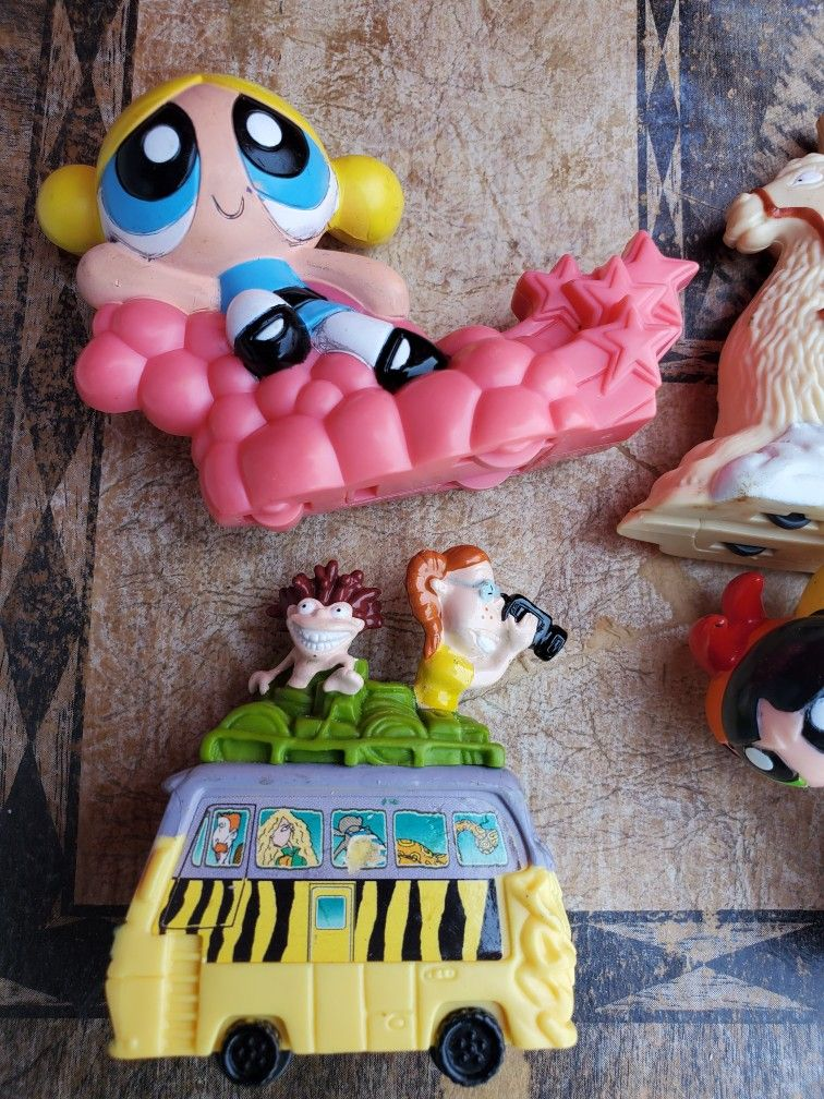 90's Rugrats Power Puff Girls Vintage Toy Lot #110 Red