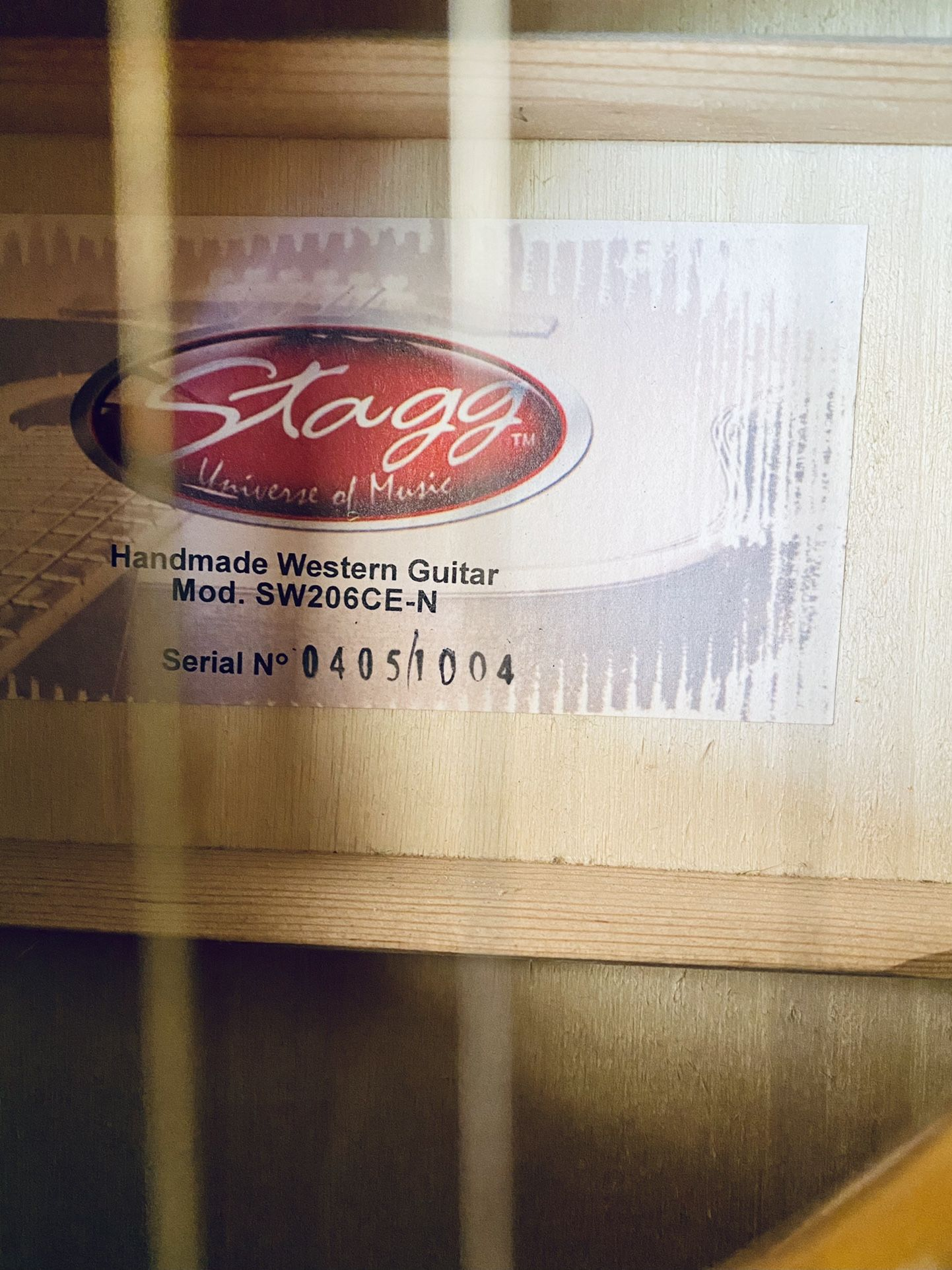 Stagg Handmade Acoustic/Electric Guitar
