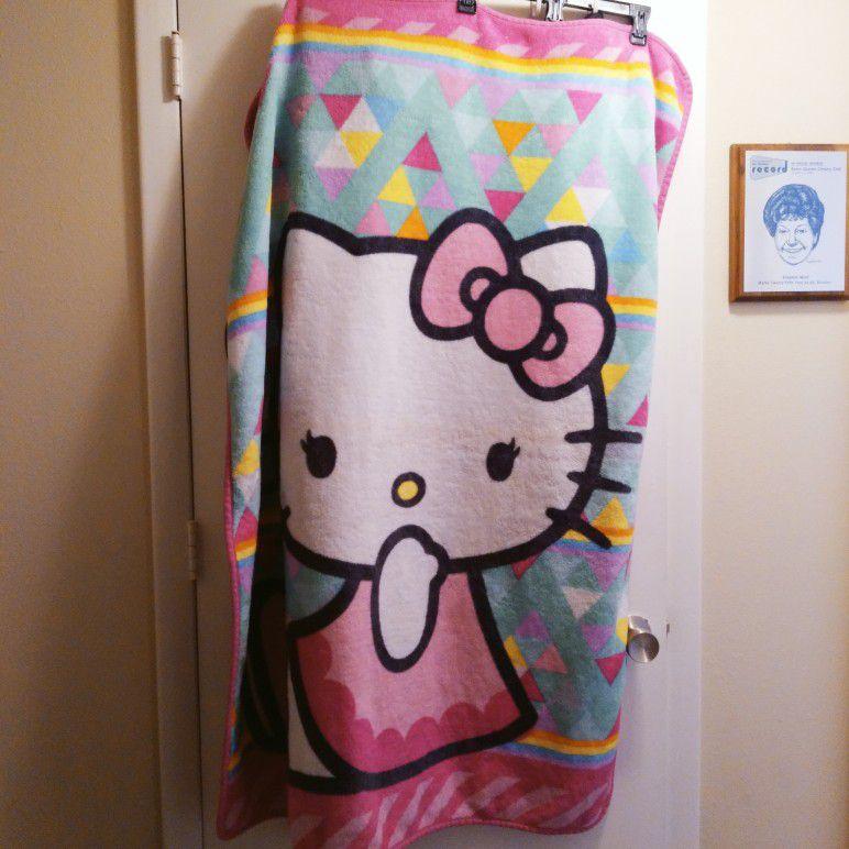 Hello Kitty Plush Throw Blanket