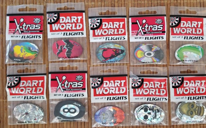 Dart Flights By AXIS 10 SETS