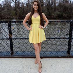 Yellow or black Skater Dress Thumbnail