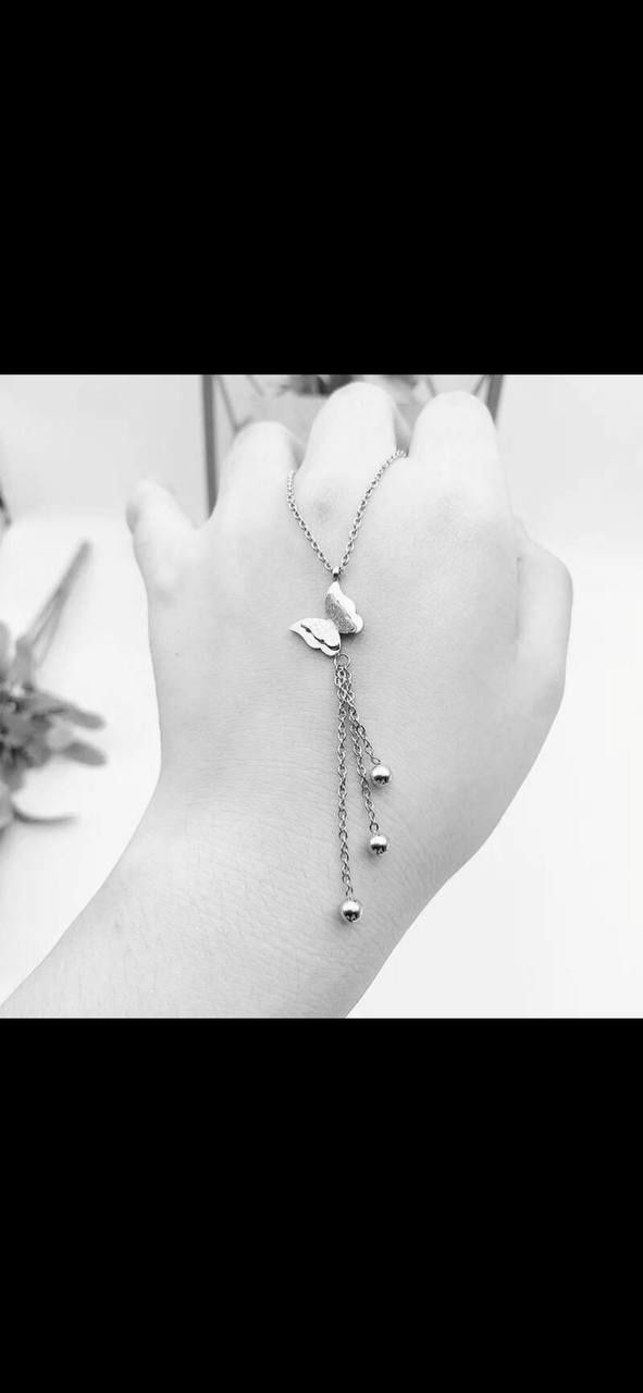 Butterfly Italy Silver Necklace