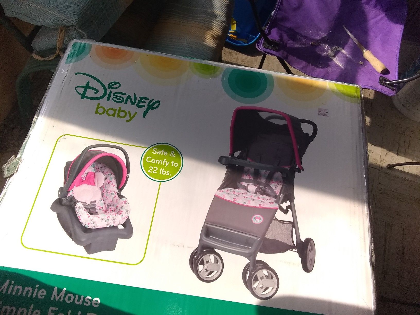 Minnie mouse stroller & car seat