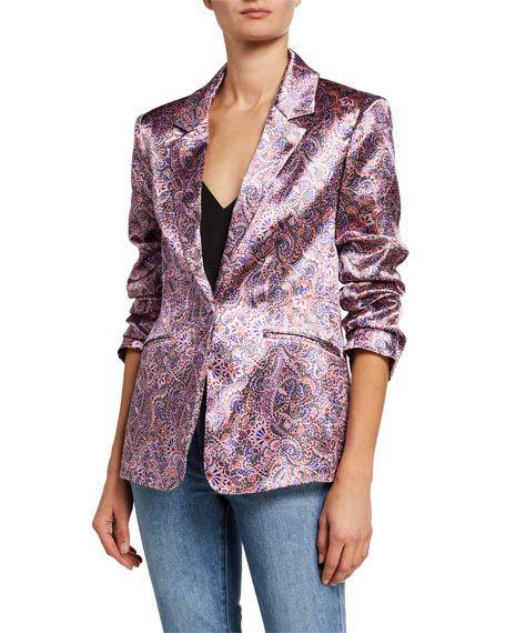 Blazer Pink Jacquard Size 0 New