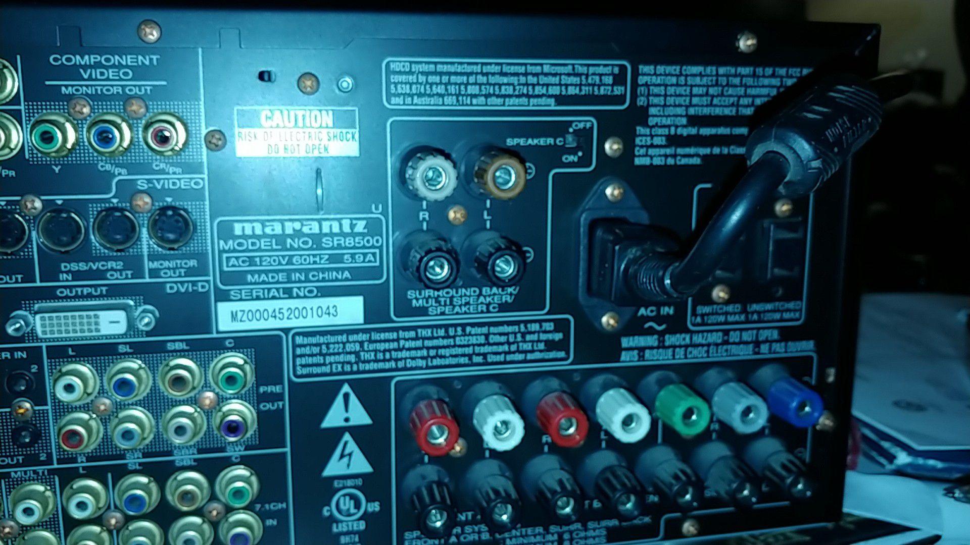 Marantz model sr8500 AV Surround Receiver
