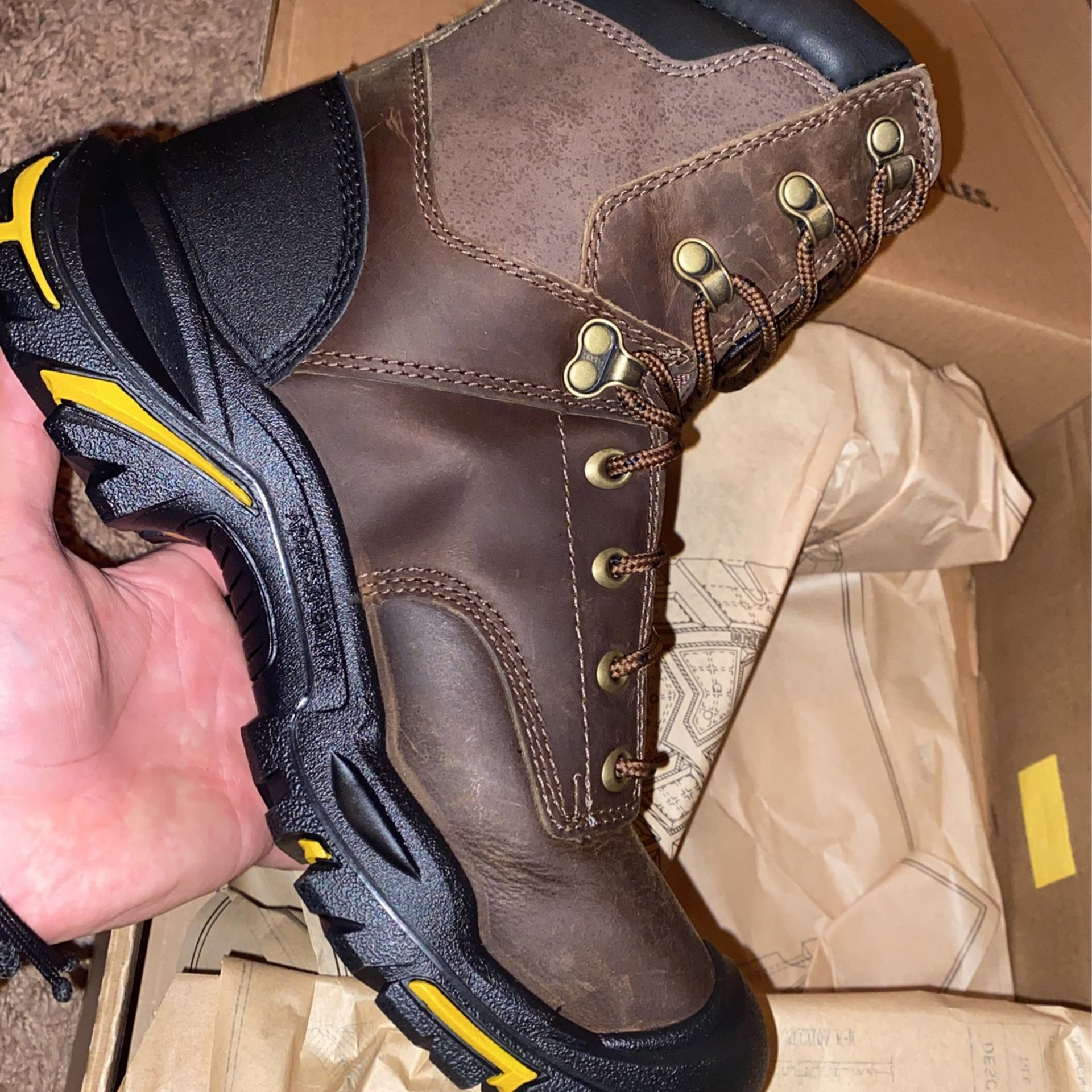 Keen Steel Boots, Brown, Size 7 & 7.5