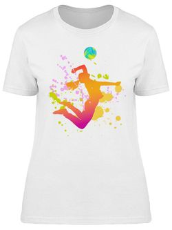 Smartprints Volleyball Girl Design Tee Women's -Image by Shutterstock White Size XL Thumbnail