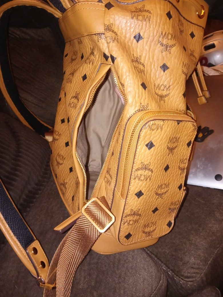 Authentic New MCM ° Munchen °  Brown Mens Backpack5